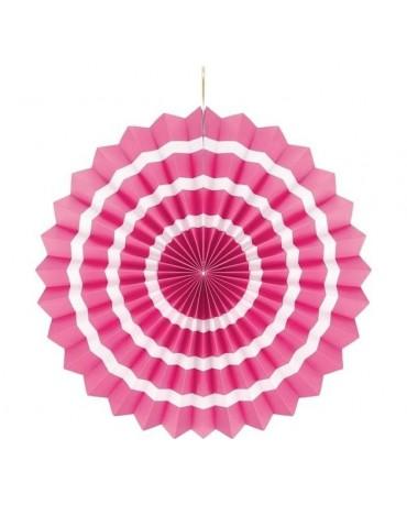 Papierová rozeta -ružová-biele pásiky  40cm 1ks