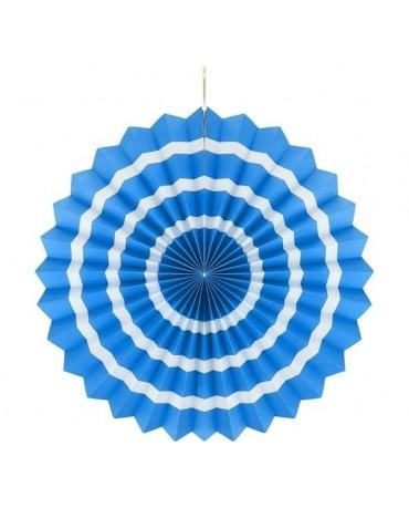 Papierová rozeta -modrá- biele pásiky 40cm 1ks
