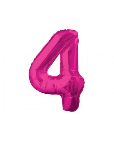 Fóliový balón číslo 4- ružový 86cm