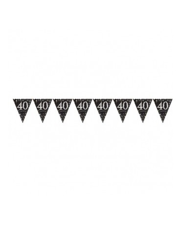 Banner vlajok na 40.ku - čierny 1ks