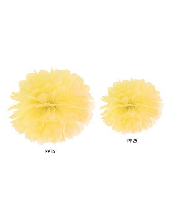 Pompón - žltý 35cm