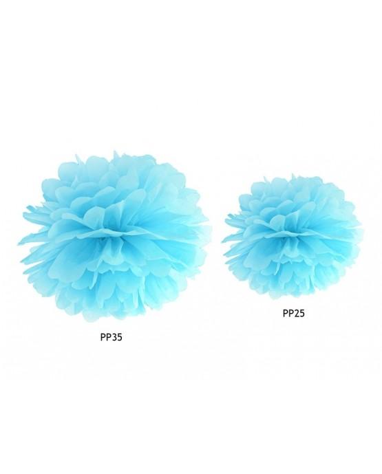 Pompón -modrý 25cm
