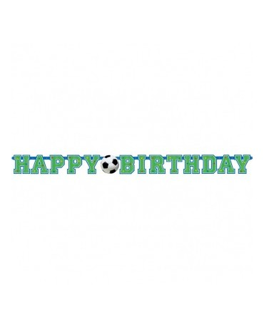 Banner Happy Birthday - futbal 130cm
