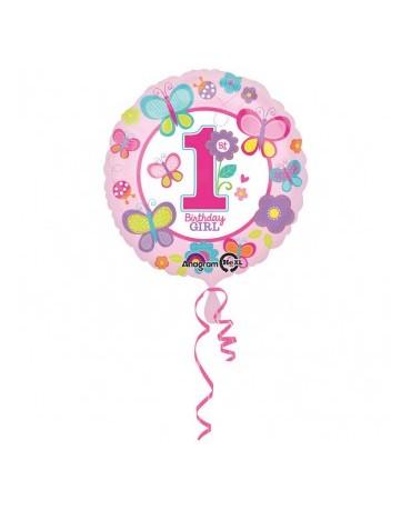 Fóliový balón Birthday girl č.1 43cm