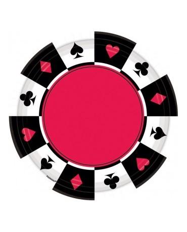 Tanieriky kartové znaky -17,7 cm 8ks