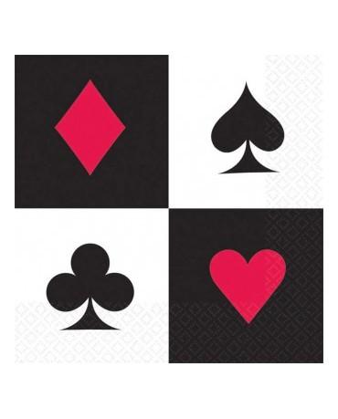 Servítky kartové znaky -25 cm 16ks