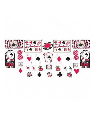 Dekorácie kartové znaky 30 ks