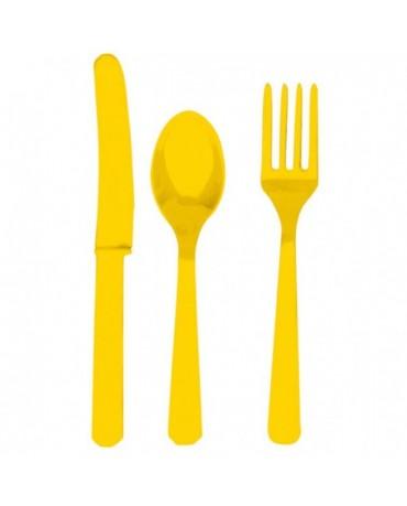 Plastové príbory -žlté 24ks