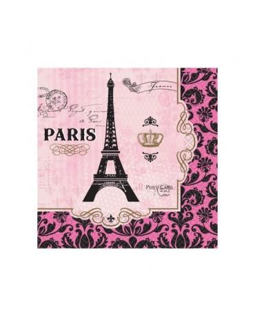 Servítky Paris 33cm 16ks