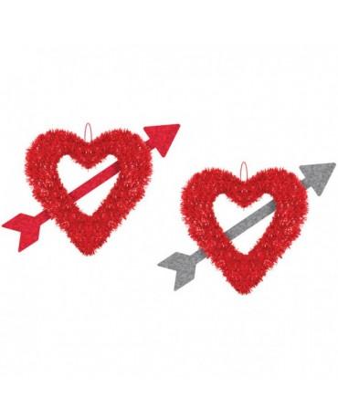 Dekorácia srdce 28 x 33cm