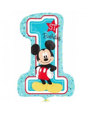 Fóliový balón Mickey 1 st narodeniny 48 x 71cm