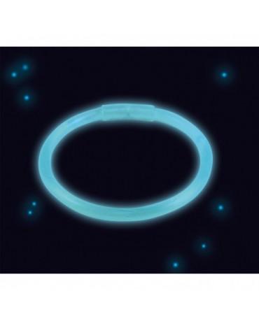 Svietiaci náramok modrý 20 cm
