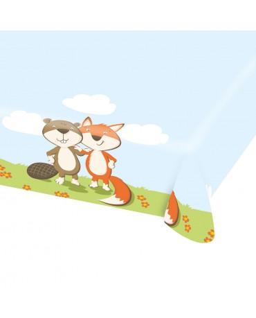 Obrus líška a bobor 115 x 175cm