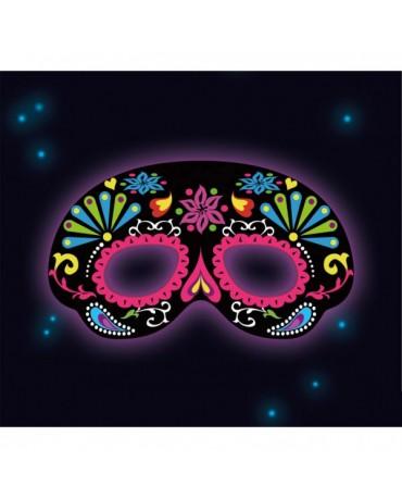 Svietiaca maska čierna s ornamentami