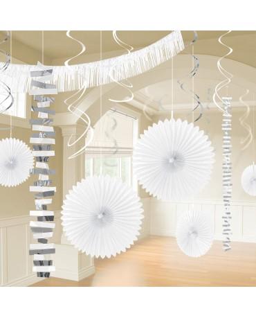 Dekoratívna súprava biela 18ks