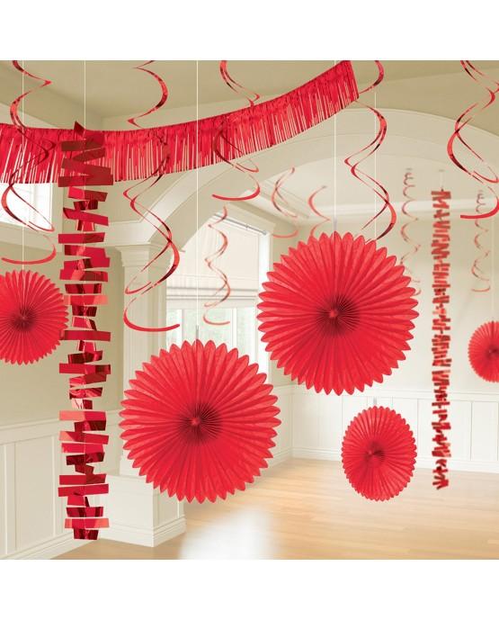 Dekoratívna súprava červená 18ks