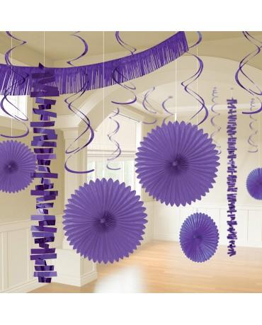 Dekoratívna súprava fialová 18ks