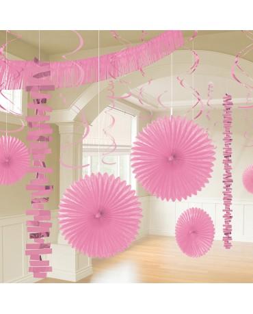 Dekoratívna súprava svetlo ružová 18ks