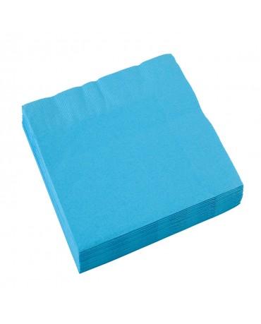 Servítky karibská modrá 33x33cm 20ks