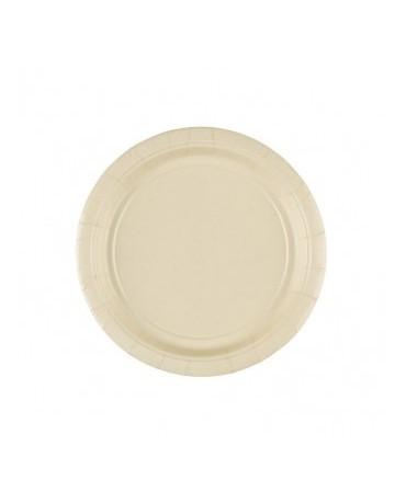 Papierové tanieriky krémové 18cm 8ks
