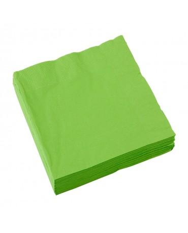 Servítky zelené 33 x 33cm 20ks