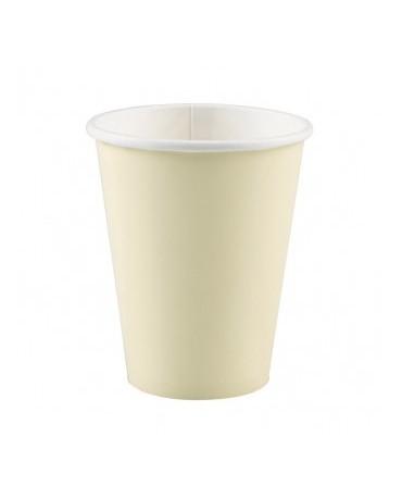 Papierové poháriky krémové 266ml 8ks
