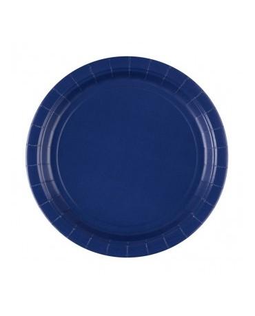 Papierové tanieriky modré 23cm 8ks