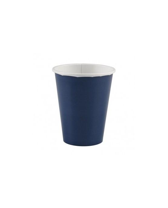 Papierové poháriky modré 266 ml 8ks