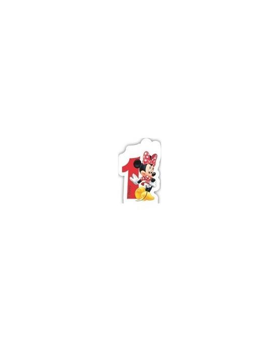 """Sviečka Minnie Mouse- Kaviareň - číslica """"1"""" 1ks/P2"""