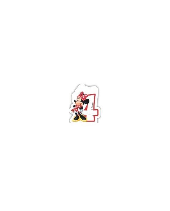 """Sviečka Minnie Mouse- Kaviareň - číslica """"4"""" 1ks/P2"""