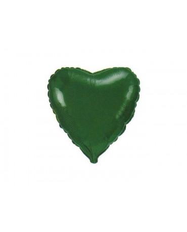 "Fóliový balón srdce- zelené 18"""