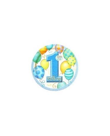 Tanieriky 1. narodeniny- modré balóniky 18cm 8ks