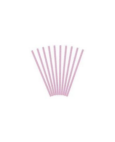 Slamky - ružové vlnky 10ks