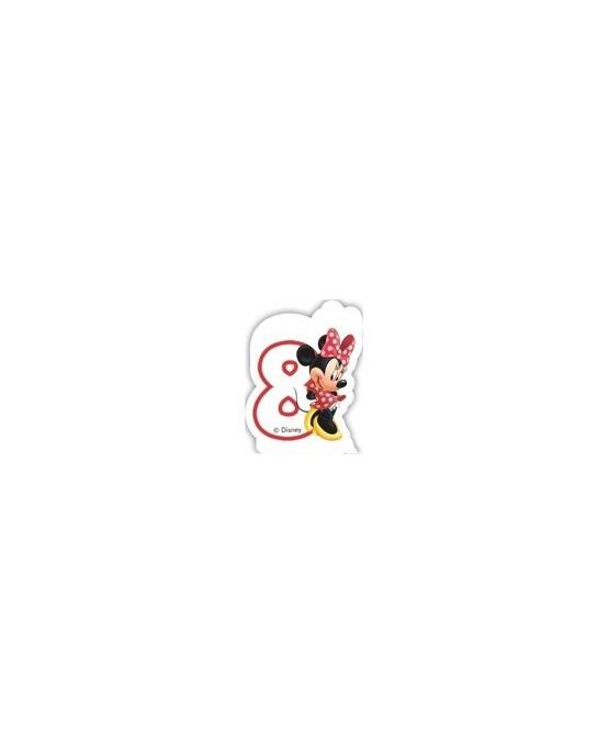 """Sviečka Minnie Mouse- Kaviareň - číslica """"8"""" 1ks/P2"""