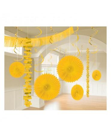 Dekoratívna súprava žltá 18ks