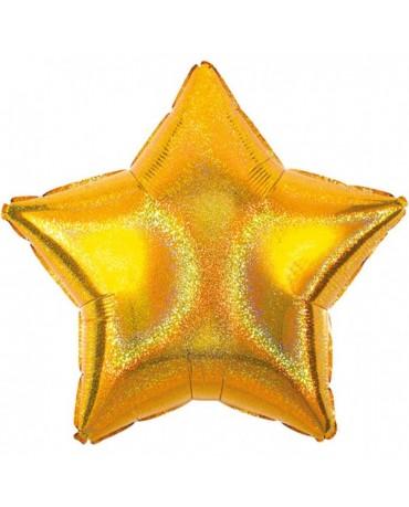 Fóliový balón zlata hviezda S55