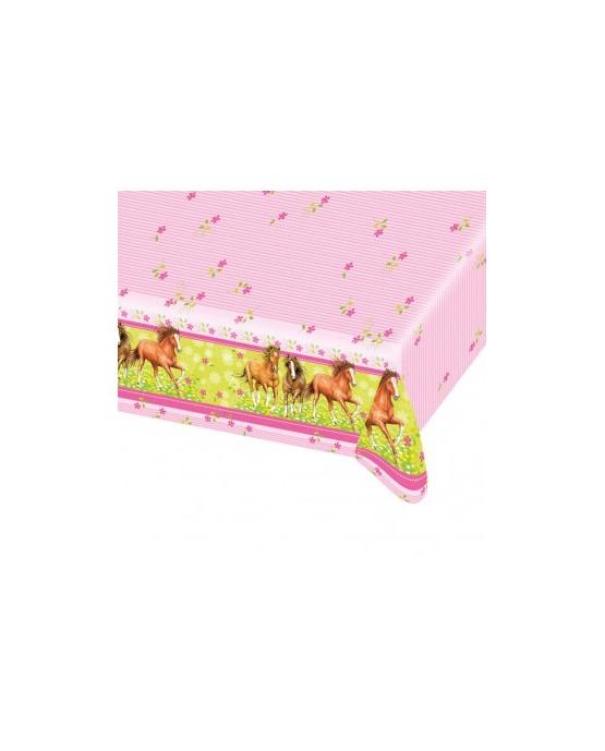 Obrus koníky - ružový 120x180cm 1ks