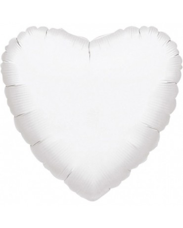 Fóliový balón srdce biele  43cm