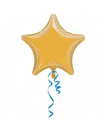Fóliový balón zlatá hviezda 48cm