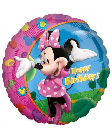 Fóliový balón Minnie Happy Birthday S60