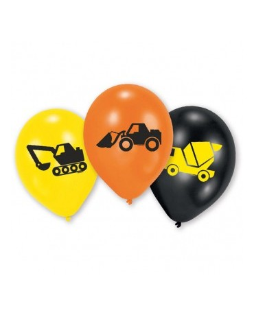 "Latexové balóny Stavebníctvo 9""  6ks"