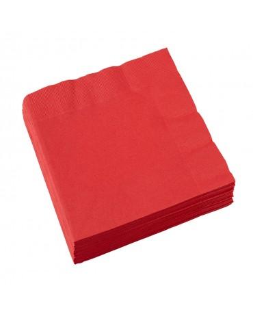 Servítky červené 33x33cm 20 ks
