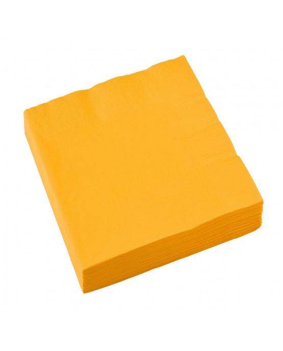 Servítky žlté 33x33cm 20ks