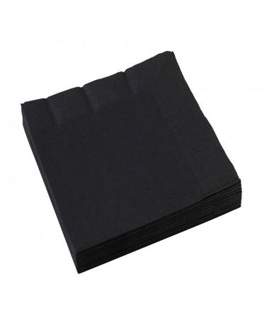 Servítky čierne 33x33cm 20ks