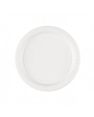 Papierové tanieriky biele 18cm 8ks