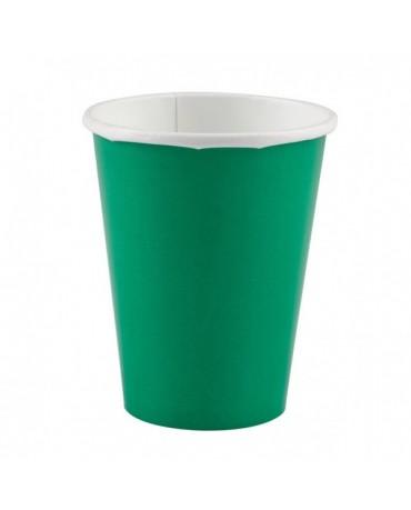 Papierové poháriky zelené 266ml 8ks
