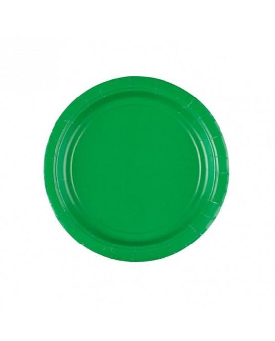 Papierové tanieriky zelené 18cm 8ks