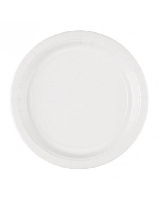 Papierové tanieriky biele 23cm 8ks