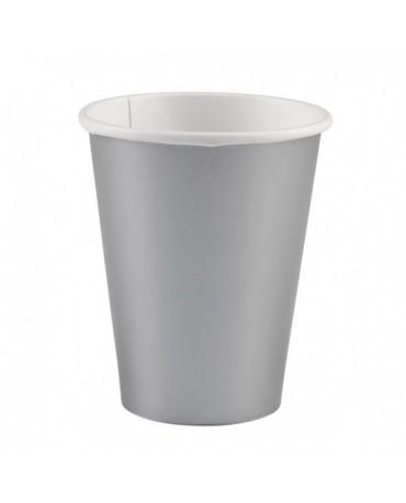 Papierové poháriky strieborné 266ml 8ks
