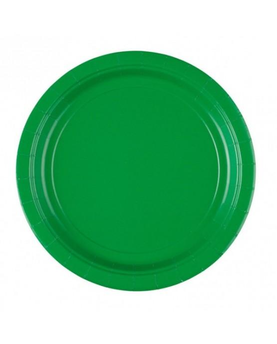Papierové tanieriky zelené 23cm 8ks